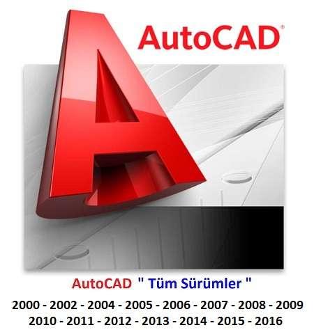 AutoDesk AutoCAD tum surumler full